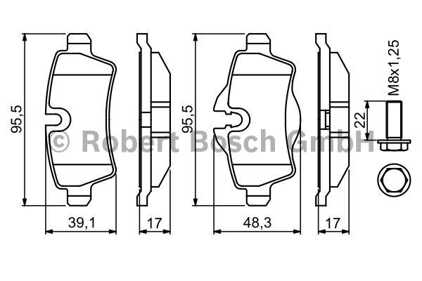 Kit de plaquettes de frein, frein à disque - BOSCH - 0 986 494 242