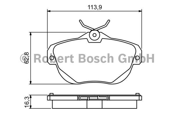 Kit de plaquettes de frein, frein à disque - BOSCH - 0 986 494 243