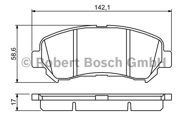 Kit de plaquettes de frein, frein à disque - BOSCH - 0 986 494 244