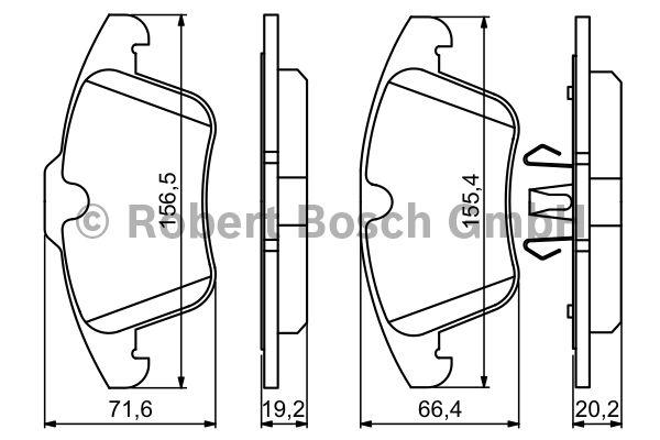 Kit de plaquettes de frein, frein à disque - BOSCH - 0 986 494 246