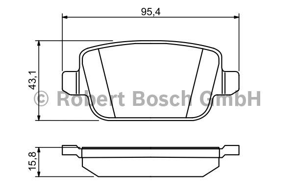 Kit de plaquettes de frein, frein à disque - BOSCH - 0 986 494 247