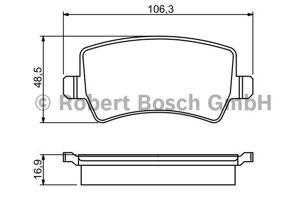 Kit de plaquettes de frein, frein à disque - BOSCH - 0 986 494 248