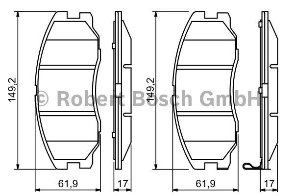 Kit de plaquettes de frein, frein à disque - BOSCH - 0 986 494 250