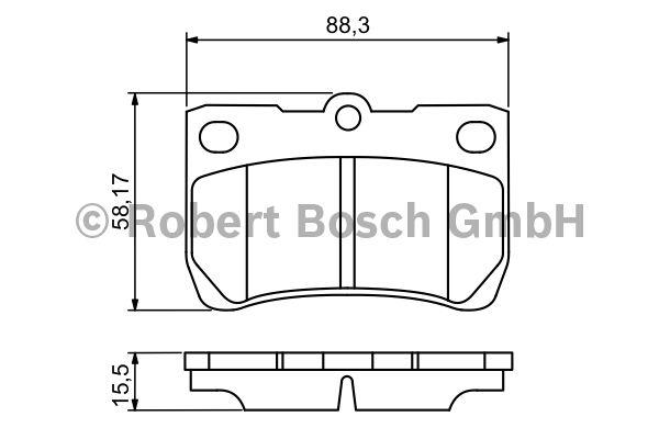 Kit de plaquettes de frein, frein à disque - BOSCH - 0 986 494 253