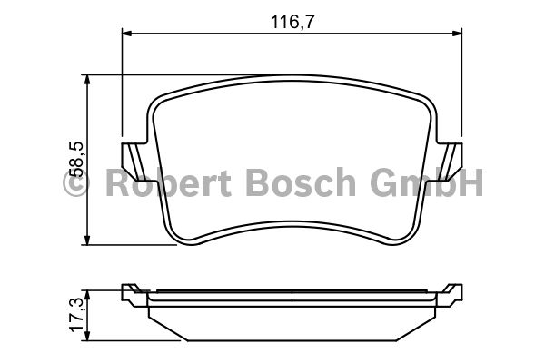 Kit de plaquettes de frein, frein à disque - BOSCH - 0 986 494 254