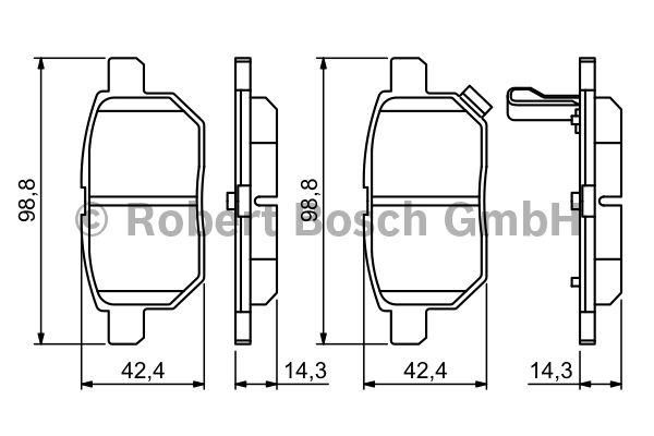 Kit de plaquettes de frein, frein à disque - BOSCH - 0 986 494 255