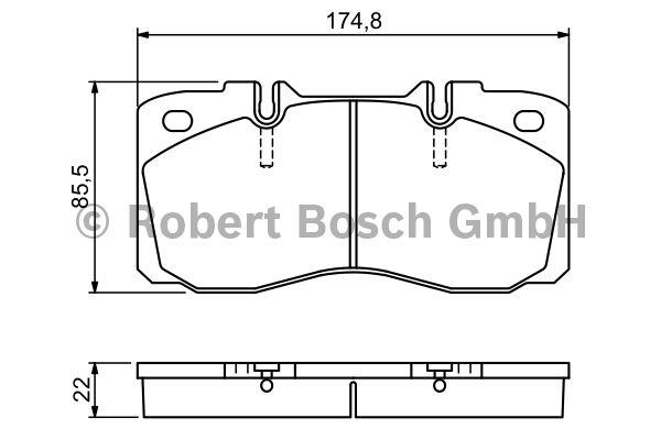 Kit de plaquettes de frein, frein à disque - BOSCH - 0 986 494 257