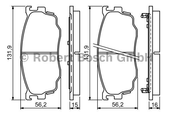 Kit de plaquettes de frein, frein à disque - BOSCH - 0 986 494 258