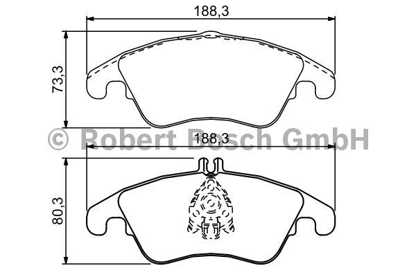 Kit de plaquettes de frein, frein à disque - BOSCH - 0 986 494 263