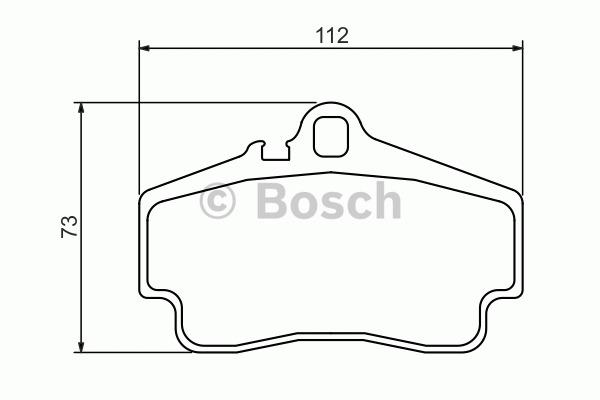 Kit de plaquettes de frein, frein à disque - BOSCH - 0 986 494 265