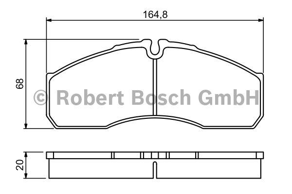 Kit de plaquettes de frein, frein à disque - BOSCH - 0 986 494 266