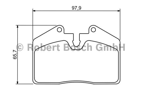 Kit de plaquettes de frein, frein à disque - BOSCH - 0 986 494 267