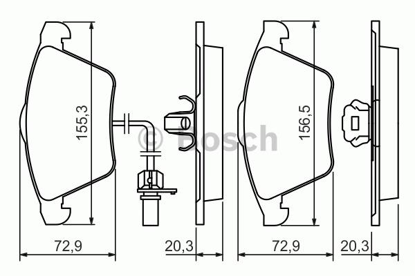 Kit de plaquettes de frein, frein à disque - BOSCH - 0 986 494 271