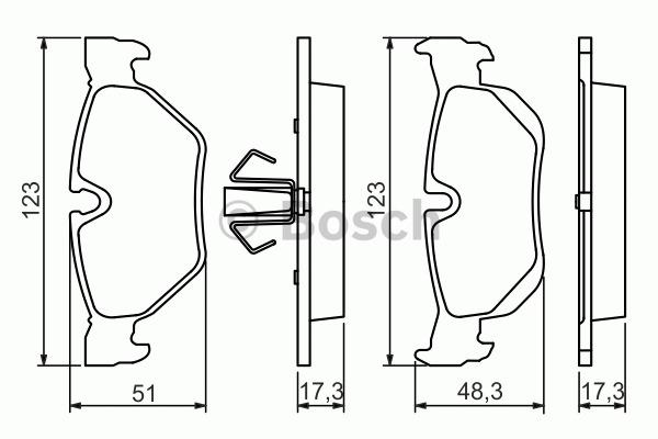 Kit de plaquettes de frein, frein à disque - BOSCH - 0 986 494 272