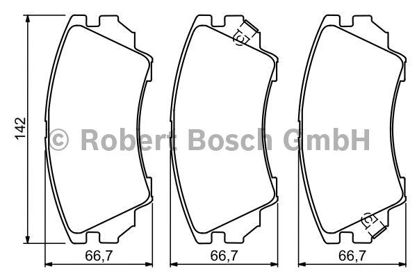 Kit de plaquettes de frein, frein à disque - BOSCH - 0 986 494 275
