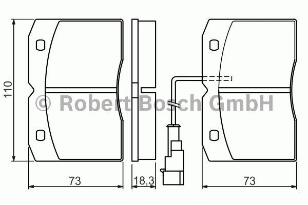 Kit de plaquettes de frein, frein à disque - BOSCH - 0 986 494 276
