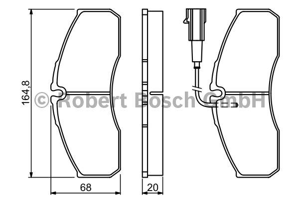 Kit de plaquettes de frein, frein à disque - BOSCH - 0 986 494 278