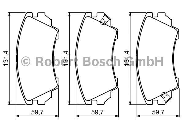 Kit de plaquettes de frein, frein à disque - BOSCH - 0 986 494 279