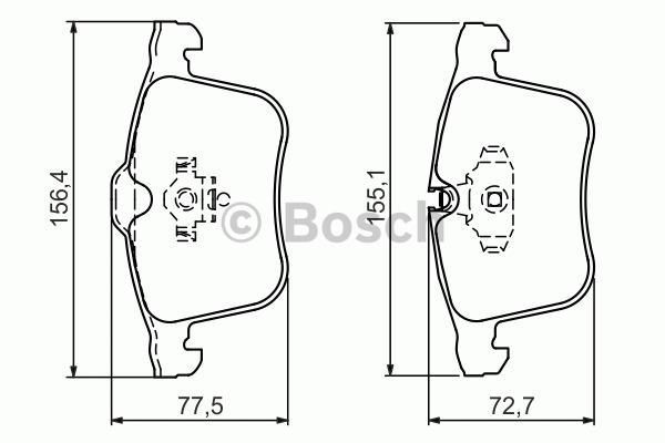 Kit de plaquettes de frein, frein à disque - BOSCH - 0 986 494 280