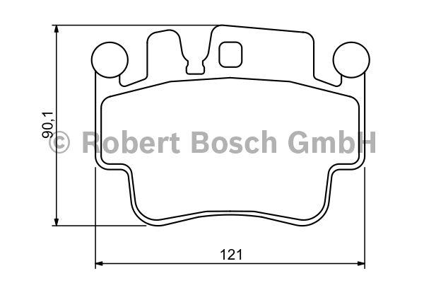 Kit de plaquettes de frein, frein à disque - BOSCH - 0 986 494 281