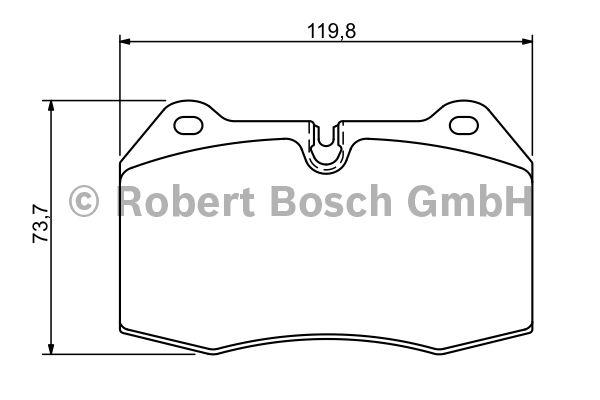Kit de plaquettes de frein, frein à disque - BOSCH - 0 986 494 282