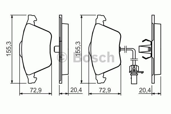 Kit de plaquettes de frein, frein à disque - BOSCH - 0 986 494 283