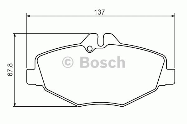 Kit de plaquettes de frein, frein à disque - BOSCH - 0 986 494 285
