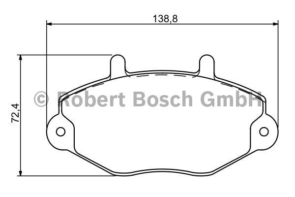 Kit de plaquettes de frein, frein à disque - BOSCH - 0 986 494 287