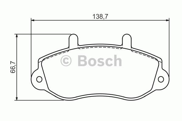 Kit de plaquettes de frein, frein à disque - BOSCH - 0 986 494 288