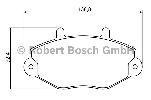 Kit de plaquettes de frein, frein à disque - BOSCH - 0 986 494 289