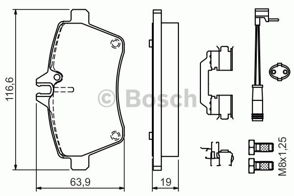 Kit de plaquettes de frein, frein à disque - BOSCH - 0 986 494 290