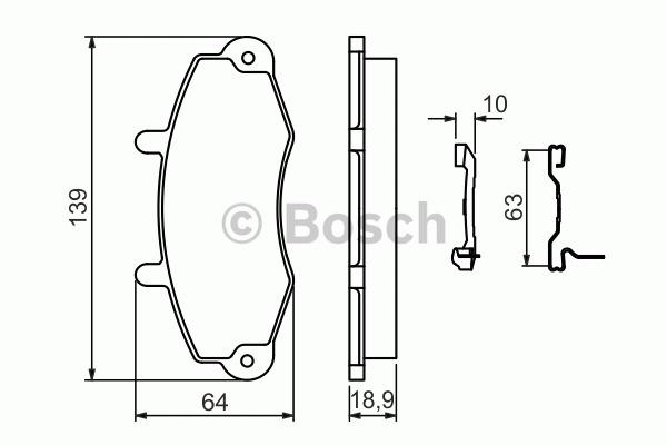 Kit de plaquettes de frein, frein à disque - BOSCH - 0 986 494 292
