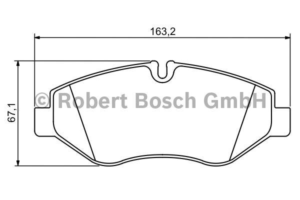 Kit de plaquettes de frein, frein à disque - BOSCH - 0 986 494 293