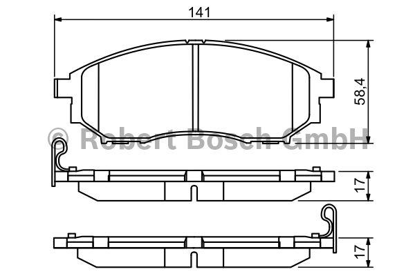Kit de plaquettes de frein, frein à disque - BOSCH - 0 986 494 295