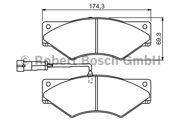 Kit de plaquettes de frein, frein à disque - BOSCH - 0 986 494 296