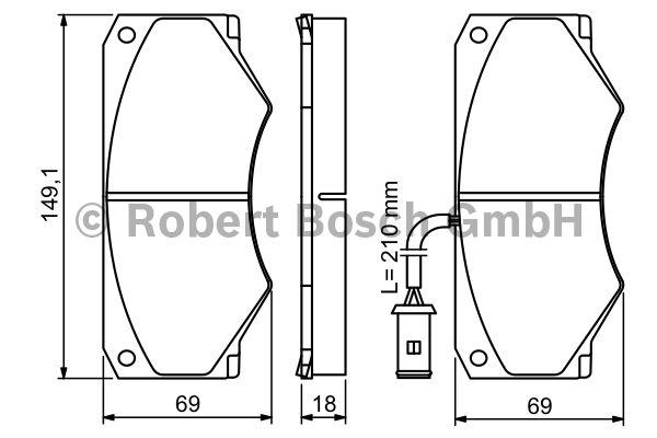 Kit de plaquettes de frein, frein à disque - BOSCH - 0 986 494 301