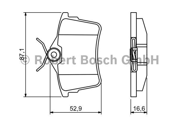 Kit de plaquettes de frein, frein à disque - BOSCH - 0 986 494 304