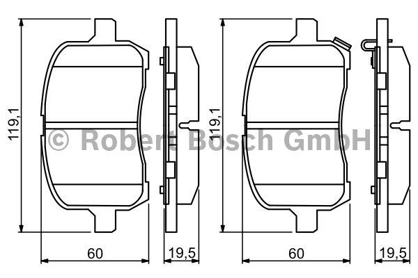 Kit de plaquettes de frein, frein à disque - BOSCH - 0 986 494 306