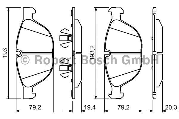 Kit de plaquettes de frein, frein à disque - BOSCH - 0 986 494 307