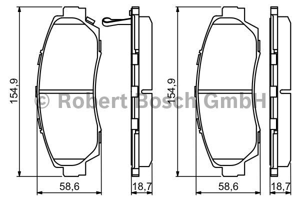 Kit de plaquettes de frein, frein à disque - BOSCH - 0 986 494 308