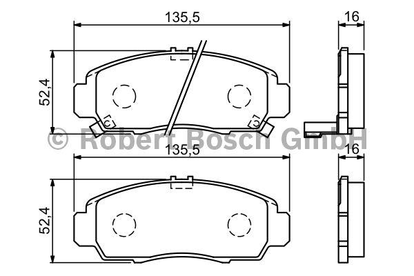Kit de plaquettes de frein, frein à disque - BOSCH - 0 986 494 311