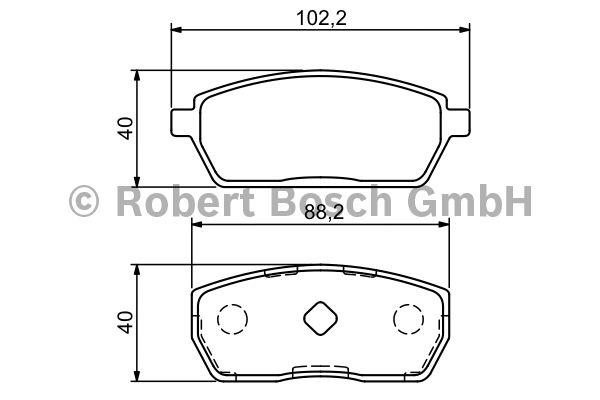 Kit de plaquettes de frein, frein à disque - BOSCH - 0 986 494 312