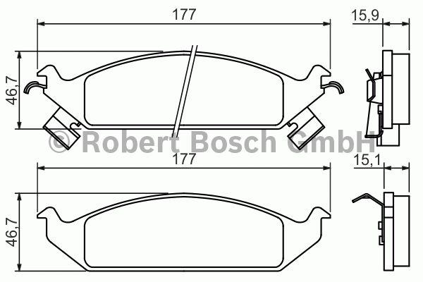 Kit de plaquettes de frein, frein à disque - BOSCH - 0 986 494 313