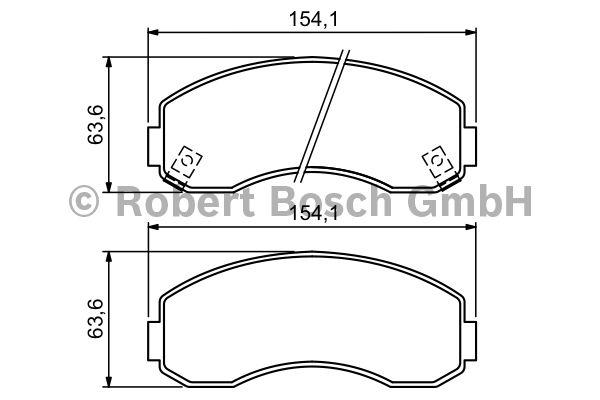 Kit de plaquettes de frein, frein à disque - BOSCH - 0 986 494 314