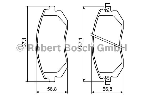 Kit de plaquettes de frein, frein à disque - BOSCH - 0 986 494 315