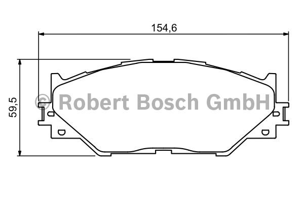 Kit de plaquettes de frein, frein à disque - BOSCH - 0 986 494 316