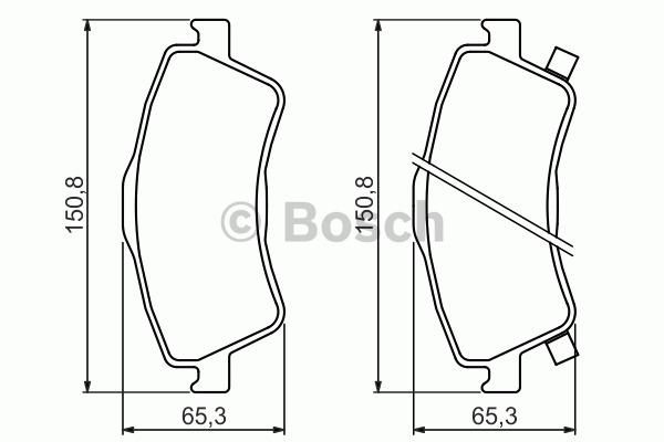 Kit de plaquettes de frein, frein à disque - BOSCH - 0 986 494 318