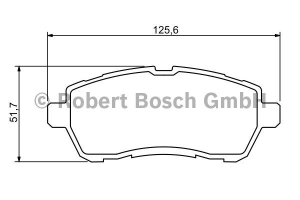 Kit de plaquettes de frein, frein à disque - BOSCH - 0 986 494 320