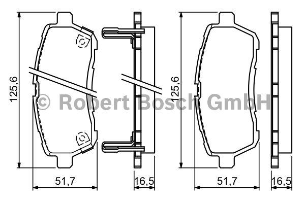 Kit de plaquettes de frein, frein à disque - BOSCH - 0 986 494 321