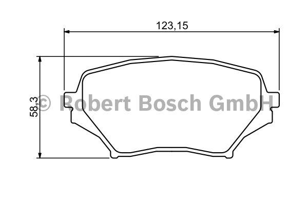 Kit de plaquettes de frein, frein à disque - BOSCH - 0 986 494 322